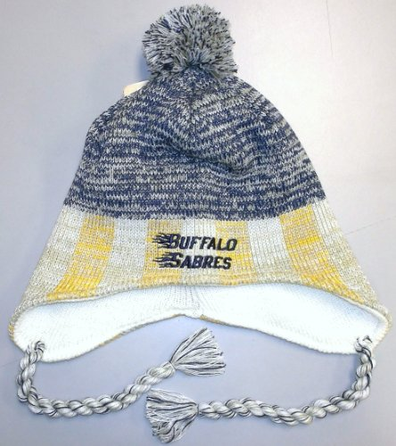 Reebok Buffalo Sabres Lifestyle Tassle Knit Hat One Size Fits All