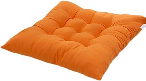 Worsendy Cuscino Sedia Arancione per Dentro e//o Fuori,40x40 cm,Disponibile in Tanti Colori Diversi,Cuscini per sedie da Giardino,Copri Sedia Cucina Cuscini per Giardino
