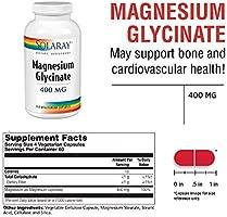 Magnesium Glycinate 400 mg Solaray 240 VCaps: Amazon.es ...