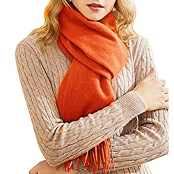 Fashion Luxurious Cashmere Stole Scarf Long Soft Shawls Wrap For Women And Men Orange
