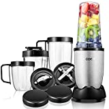 Aicook Smoothie Blender, Personal Blender Single Serve, 15-Piece High Speed Blender for Smoothies and Shakes, Portable Blender BPA Free Tritan Cups 780W, Silver