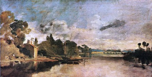 - Joseph William Turner The Thames near Walton Bridges - 15.05