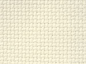 M C G Textiles 30162 16 Count Soft Tube Aida Cloth, Soft Tube, 15 by 18-Inch, Ivory