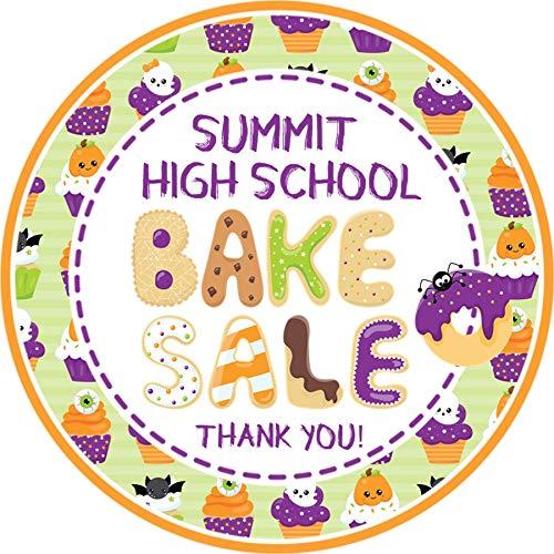 Halloween Bake Sale Sticker Labels, Halloween Bake Sale Supplies -