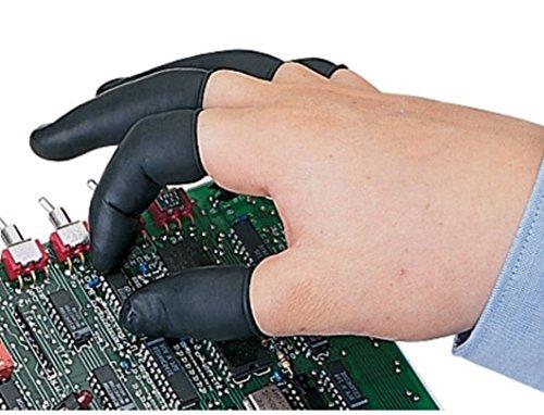 Calapro Black Medium/Large Latex Finger Cots – 720 Static Dissipating Finger Cots/Bag