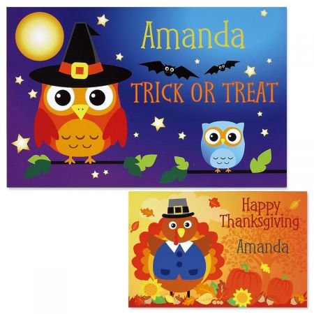 Lillian Vernon Personalized Kids Halloween and Thanksgiving Owl