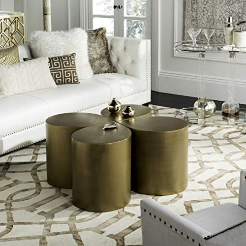 Safavieh Home Tilly Modern Antique Brass Free Form Coffee Table