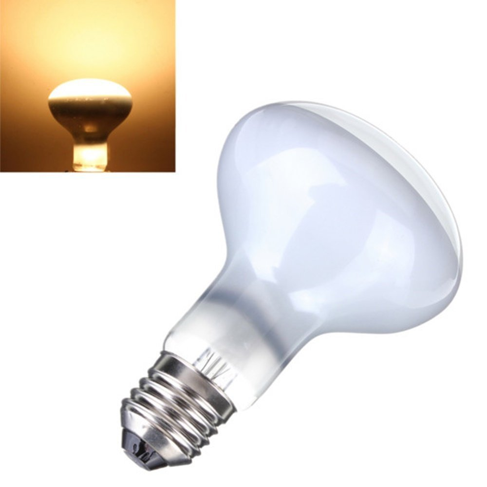 CTKcom 2-Pack 75W R63 UVA Bulb Pet Heating Lamp Day Light UVA Basking Heat Spot Lamp,110V UVA Reptile Heat Bulb For Turtle Aquarium Aquatic Reptile Lizard Heat Lighting E26/E27,White,2 Pcs