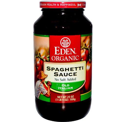 Eden Foods Spaghetti Sauce, No Salt, 25-Ounce - Eden Organic Spaghetti Sauce