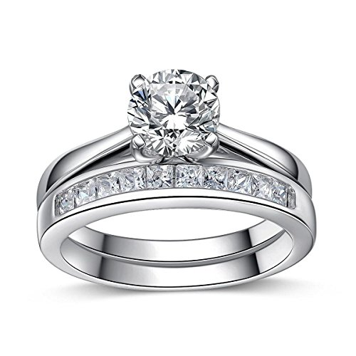 925 Sterling Silver Brilliant Diamond Cut Crystals Accent Love Forever...