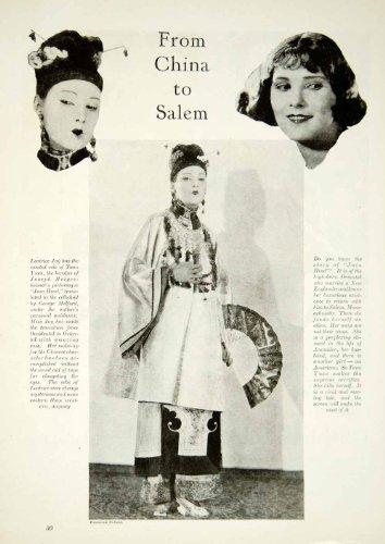 Silent Film Actress Costume (1923 Print Leatrice Joy Silent Film Actress Java Head Costume George Melford - Original Halftone Print)