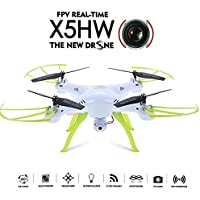 Qsmily SYMA X5HW FPV 360° Eversion Altitude Hold RC Quadcopter Drone with Wifi HD Camera (White)