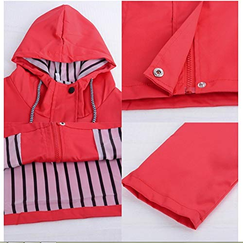 Hpklsder Cappotto Jacker Red Outwear Donna Ladies Windbreaker Outdoor Casual Autunno Impermeabile Giacche Escursionismo Rain Zipper Xxl Coat Inverno rqrg8wO