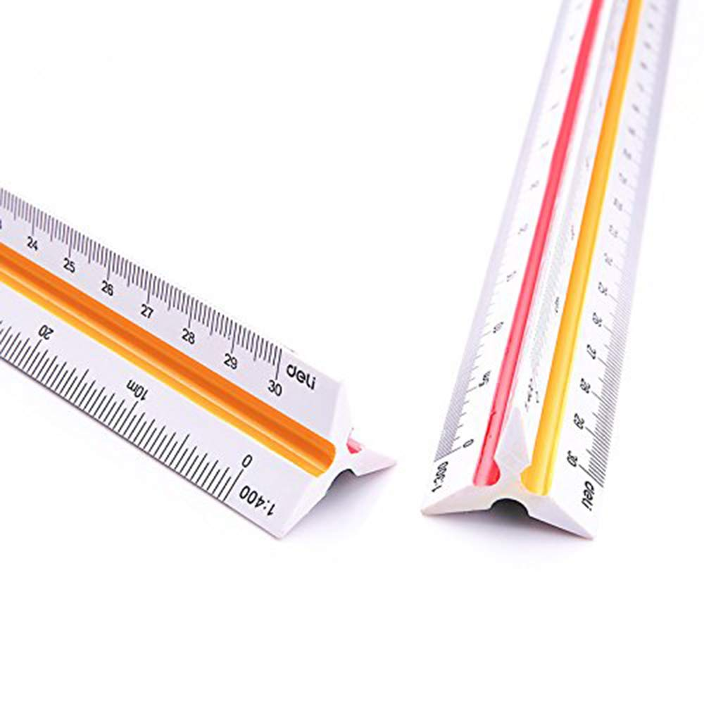 Ogquaton 1 UNIDS Multifunci/ón Escala Triangular Regla Durable Ingenieros Arquitectos Regla Herramienta de Medici/ón Ideal para uso profesional