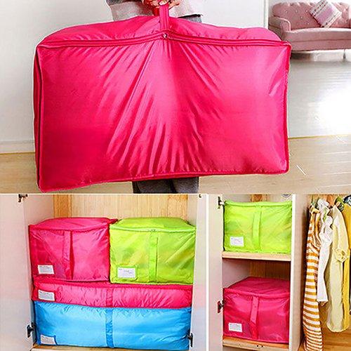 yanbirdfx Clothes Bedclothing Duvet Pillows Zipper Storage Bag Box Hand Handles Luggage Rose-m by yanbirdfx (Image #2)