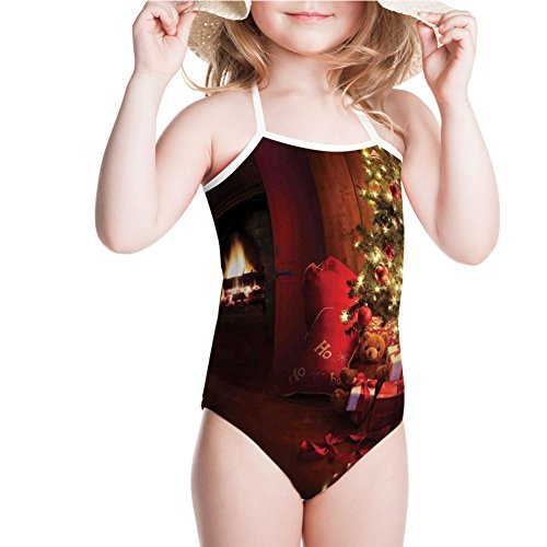 Decorated Tree Ultimate (iPrint Swimsuit Decorated Luminous Tree and Gifts by The Fireplace for 5-6ages)