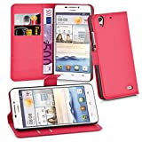 Cadorabo - Book Style Wallet Design for Huawei G630 with 2 Card Slots and Stand Function - Etui Case Cover Protection Pouch in CANDY-APPLE-RED