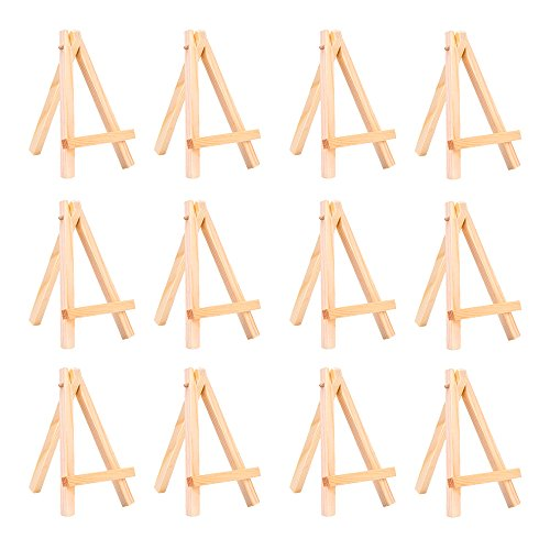 eBoot 12 Pack Mini Wood Display Easel (5 Inch)