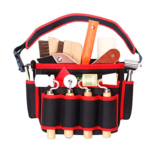 Tool Bags Storage Multifunctional Bag Electrical and Maintenance Tool Pocket Carrier Resistant Red by HUIJIA