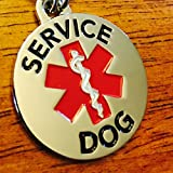 DOUBLE-SIDED-SERVICE-DOG-with-Red-Medical-Alert-Symbol-125-inch-Durable-Stainless-Steel-Dog-Tag