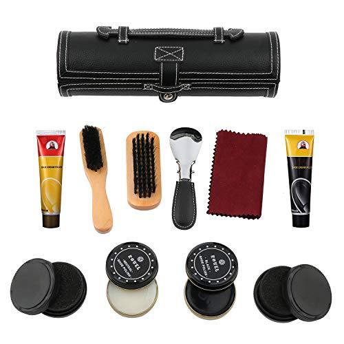 kit d'entretien de la chaussure, kit d'entretien de cuir portable. Y compris le cirage, le cire à chaussures, l'éponge… 2