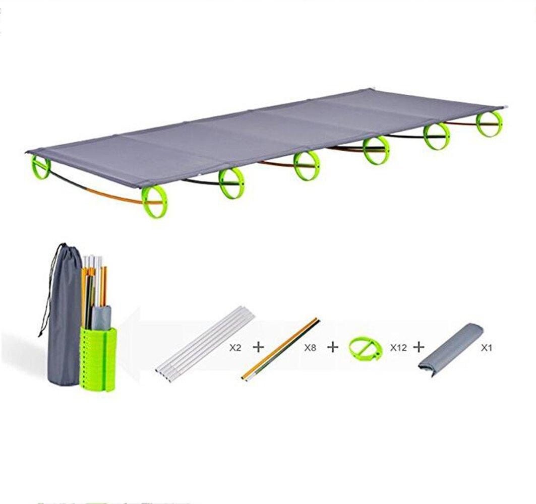 KANGLE Ultraleichtes faltbares Campingbett, Luftfahrt-Aluminium, Einzelbett, tragbar