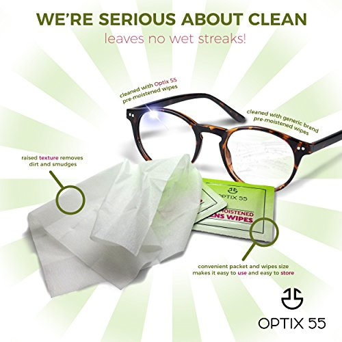 Pre-Moistened Lens Cleaning Wipes - 400 Cloths - Safely Cleans Glasses, Sunglasses, Camera Lenses, and Electronic Quickly & Efficiently - Travel - by Optix 55 by Optix 55 (Image #5)