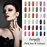 FairyGlo Pick Any 50 Colors UV LED Gel Nail Polish Soak Off Color Nail Art Kit Gift Set Manicure Salon Tool Beauty Nail Care