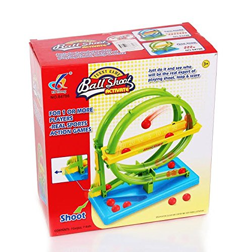 Indoor Ball Shooting Track with 7 Balls, 1 Base Track, Ejector, Scoring Grove & Loops - Compact & Travel Sized - Ages 5+ - by Dazzling Toys