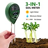 Fomei Best Soil pH Meter-3 in 1 Soil Test Kit Gardening Tools for PH, Light & Moisture For Sale