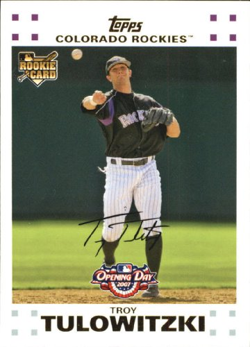 2007 Topps Opening Day Baseball Rookie Card #163 Troy Tulowitzki Near Mint/Mint