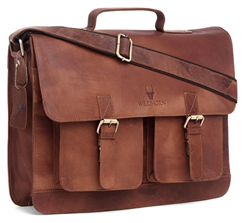 WildHorn Wildhorn India Leather 16 inches Brown Messenger Bag  MB539