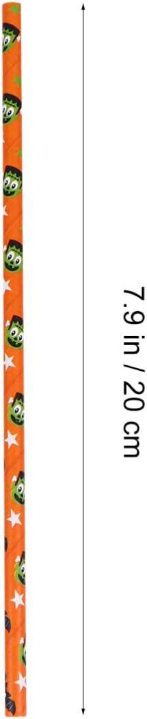 Tomaibaby 50 Pcs Halloween Pailles Motifs Daraign/ée Pailles Papier Pailles /À Boire Paille De F/ête Halloween Party Supplies D/écoration De F/ête