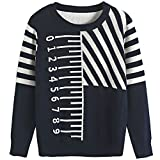 #4: BYCR Boys' Elastic Cotton Stripe Long Sleeve Crewneck Pullover Sweater