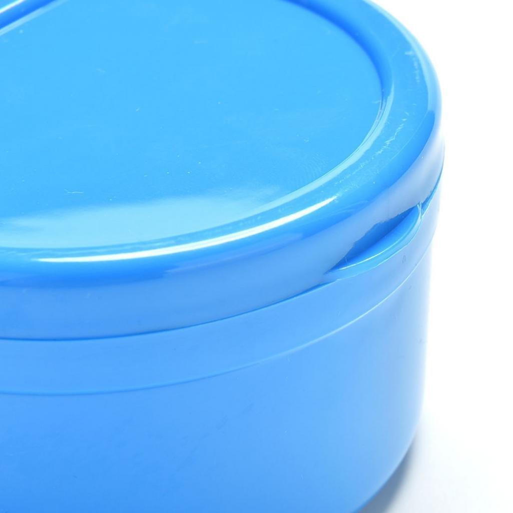 Braceus 1 Pc Dental Orthodontic Retainer Denture Storage Box Mouthguard Container Case (Blue)