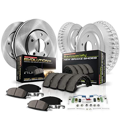 (Power Stop Front & Rear KOE15126DK Autospecialty Daily Driver Pad, Rotor, Drum and Shoe Kits )