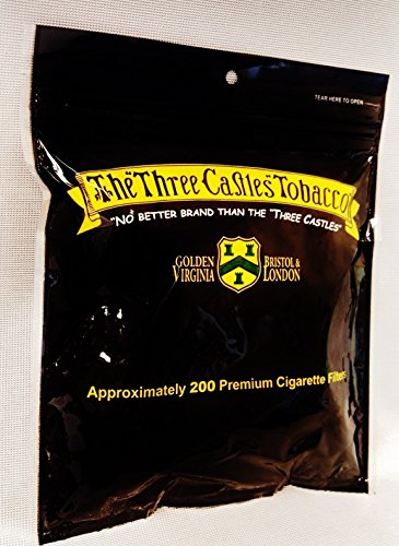 (3 Bags The Three Castle's Tobacco Filters Approx 600 Total Filters 200 Per Bag)