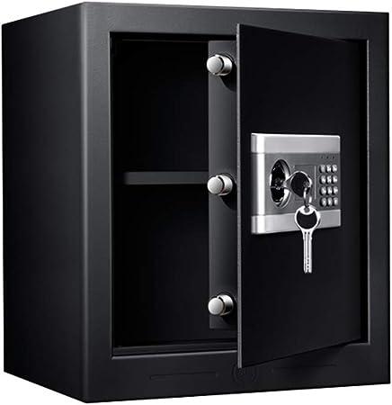 Caja Fuerte pequeña con Llave, Caja de Seguridad electrónica antirrobo de una Sola Puerta, Negra, Alta 42.7cm: Amazon.es: Hogar