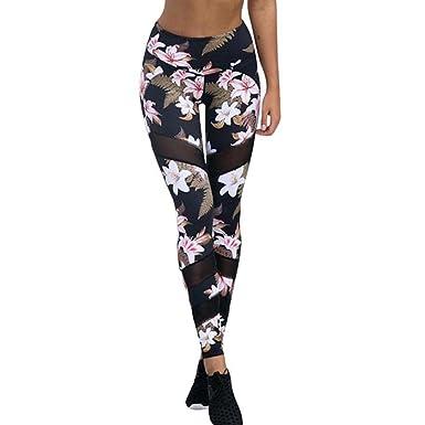 70b184fd6b846 Pantalons de Yoga, Ineternet Femmes Sexy Polyester Leggings Taille  Elastique Pantalons Sport Jogging (S