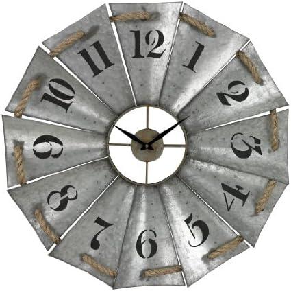 Sterling Industries Elk Lighting Aluminum Wall Clock