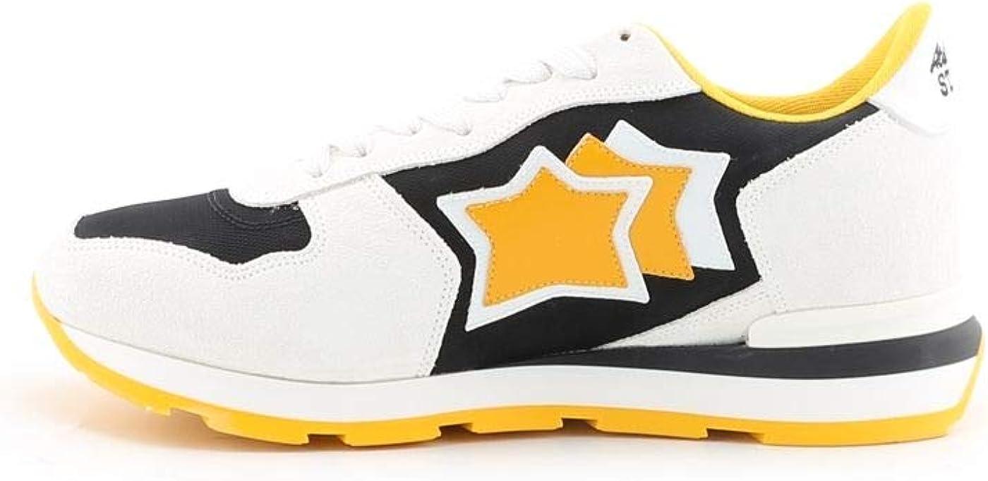 Atlantic Stars Mens Antaresbny12b White Leather Sneakers