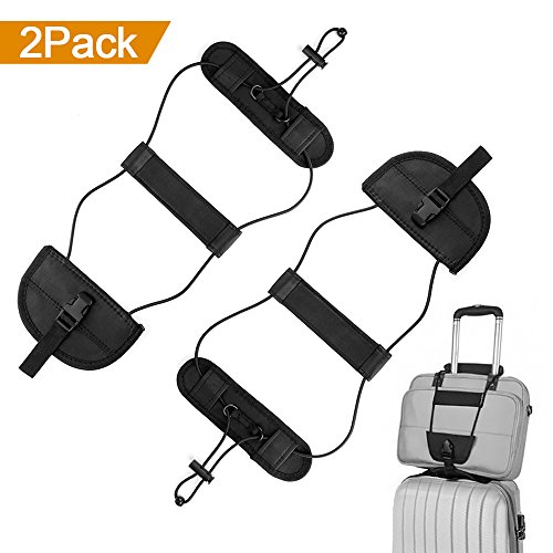 ONSON Bag Bungee, 2Pack Luggage Straps Suitcase Adjustable Belt Bungee Travel