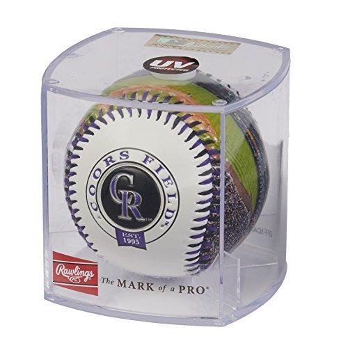 - Rawlings MLB Colorado Rockies 05860025111MLB Stadium Baseball (All Team Options), Purple, One Size