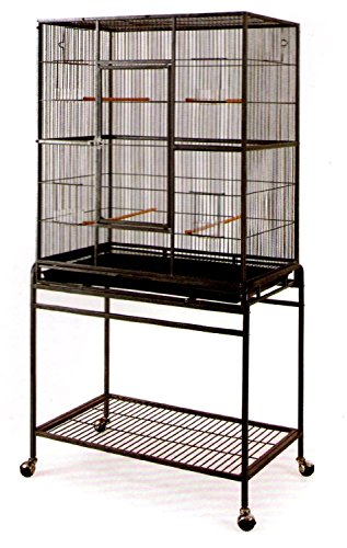 Large Wrought Iron Flight Canary Parakeet Cockatiel Loveb...