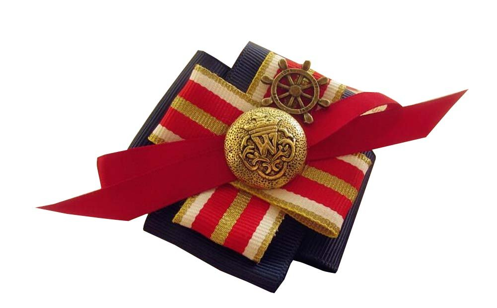 Navy Style Kids Beautiful Brooch Lovely Sweater Hat Corsage Pin Clips Blue