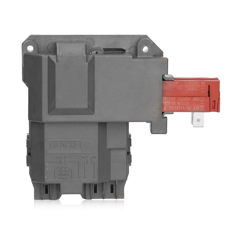 131763202 Washing Machine Door Lock Switch EXact for Electrolux Frigidaire Kenmore 131763255 131763256,0131763202 131269400 131763200 131763245 AP4455026