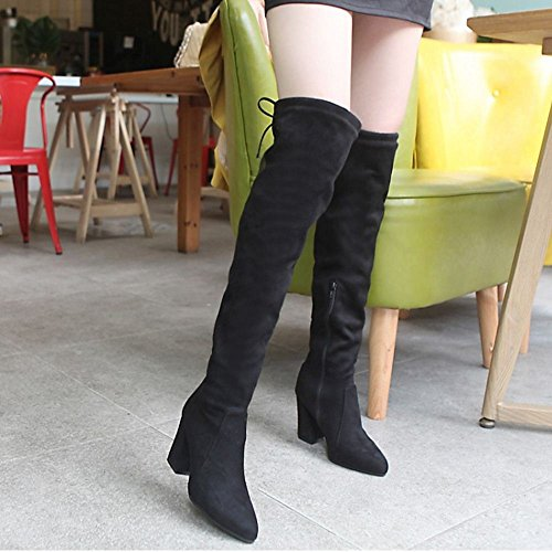 Black Taoffen h Half With Boots Long Women's Zipper gxTxqSY4v
