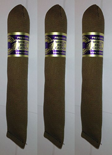 - 3 PACK EL GATO ECO GROWN PREMIUM GRADE CATNIP CIGAR CAT TOY MADE IN USA