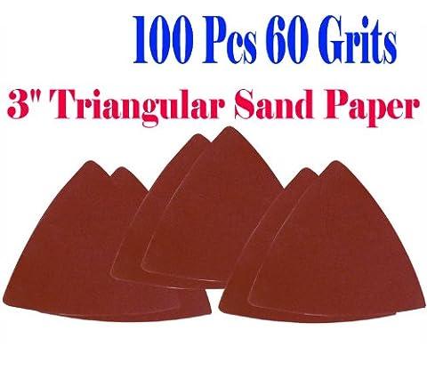 Pack 100 Sandpaper 60 Grits 3-1/8