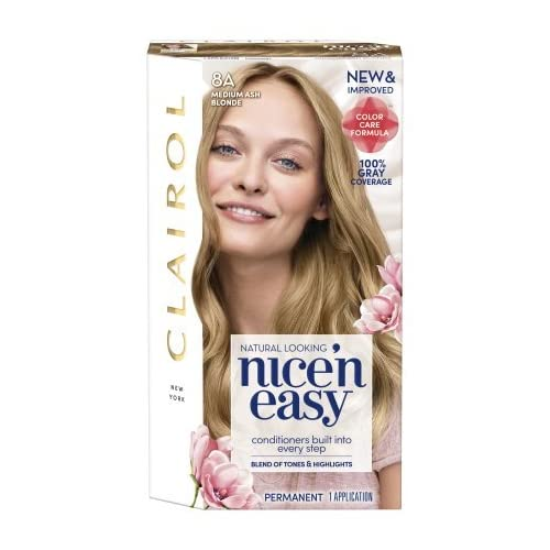 Discount Clairol Nice' n Easy Permanent Hair Color, #8A Medium Ash Blonde (Pack of 2) free shipping